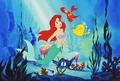 Walt Disney Production Cels - Princess Ariel, Sebastian & Flounder - walt-disney-characters photo