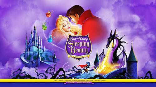 Walt Disney Characters wallpaper probably with anime entitled Walt Disney Wallpapers - Sleeping Beauty