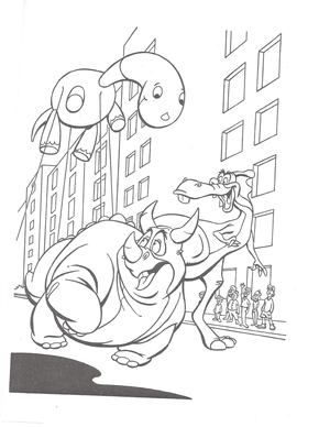 We're Back coloring page 7