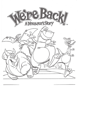 We're Back coloring page 9