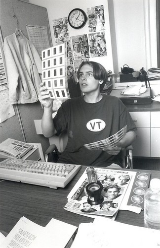 Will Friedle wallpaper with a sign, a newspaper, and a desk entitled Will Friedle <3