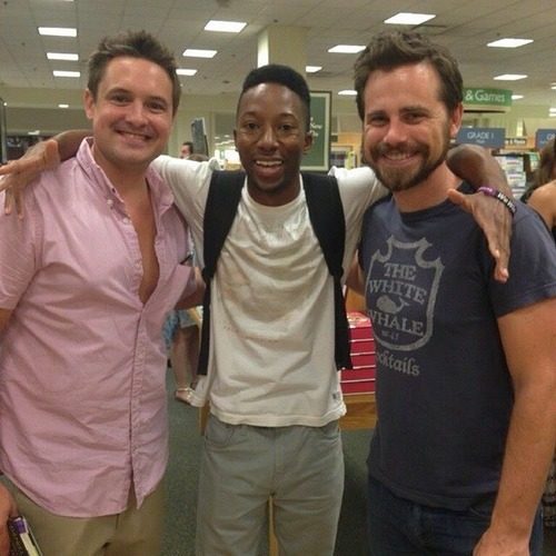Boy Meets World wallpaper titled Will Friedle, Rider Strong and a fan