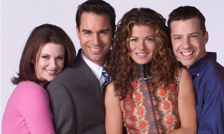 Memorable TV wallpaper containing a business suit and a dress suit titled Will and Grace ☆