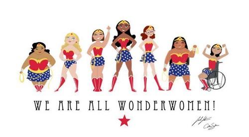 Feminism karatasi la kupamba ukuta titled Wonderwomen