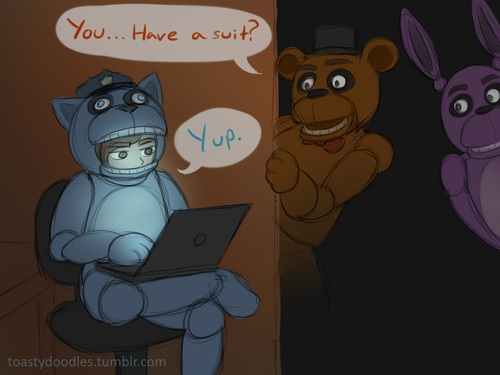 Five Nights At Freddy's hình nền with anime entitled You...Have A Suit?
