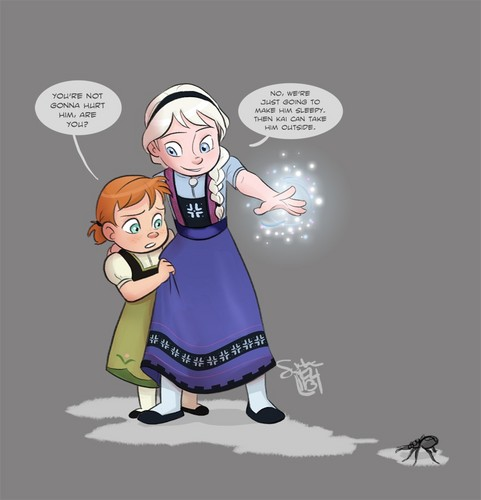 Frozen images Young Anna and Elsa HD wallpaper and