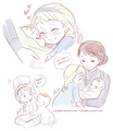 Young Elsa and Baby Anna