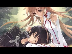 asuna nd kirito love birds