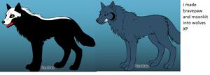 bravepaw and moonkit