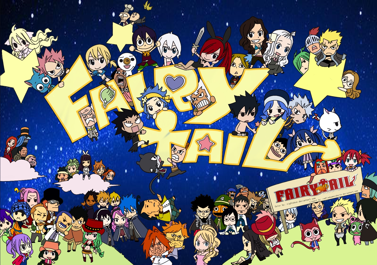 Fairy tail background. Im genes gang full