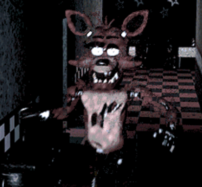 Five Nights at Freddy's kertas dinding probably with a triceratops called foxy