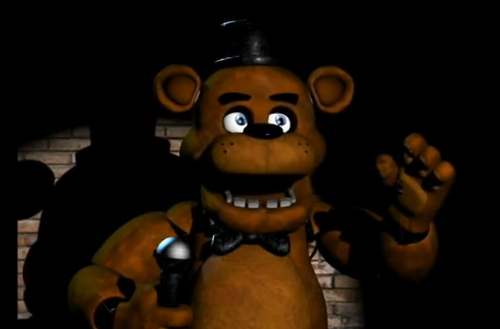 Five Nights at Freddy's karatasi la kupamba ukuta titled freddy