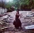 Addison Timlin on set  - fallen-by-lauren-kate photo