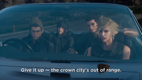Final Fantasy XV achtergrond with an automobile called new screenshots