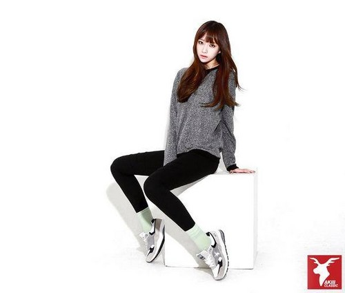 EXID (이엑스아이디) fondo de pantalla possibly with a hip boot, tights, and a legging titled EXID for AKII CLASSIC KOREA