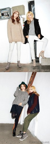 SISTAR (씨스타) wallpaper probably with a well dressed person, a business suit, and a living room entitled Hyorin and Bora for 'PLASTIC ISLAND'