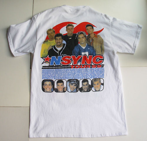 NSYNC achtergrond with a jersey entitled nsync concert t-shirt