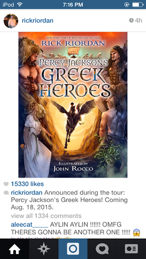 official Percy Jackson Greek हीरोस announced August 18th 2015