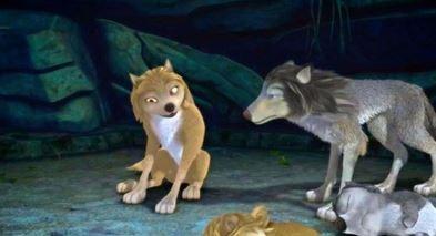 Alpha and Omega 4: The Legend of Saw Tooth Cave karatasi la kupamba ukuta entitled ohhh full moon