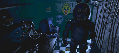 Five Nights at Freddy's wallpaper called out abck