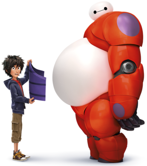 transparent Hiro and Baymax