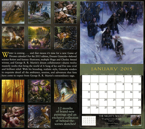 A Song of Ice and Fire wallpaper titled  A Song Of Ice And Fire - 2015 Calendar - Backcover