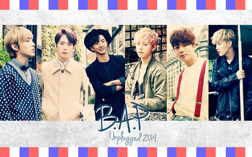 B.A.P kertas dinding with a sign titled B.A.P