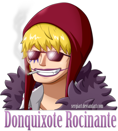 one piece wallpaper probably with anime called *Donquixote Rocinante*