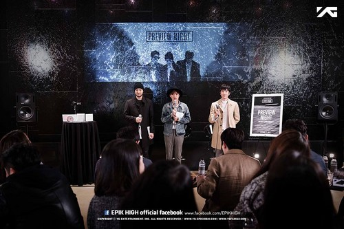 Epik High karatasi la kupamba ukuta possibly containing a tamasha titled [EPIK HIGH PREVIEW NIGHT - PRIVATE ALBUM PREMIERE]