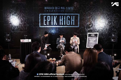 Epik High Обои with a brasserie, a multiplex, and a sign titled [EPIK HIGH Предварительный просмотр NIGHT - PRIVATE ALBUM PREMIERE]