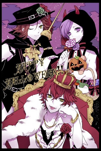 Diabolik amoureux fond d'écran probably with animé entitled [Halloween] Ayato, Laito, Kanato and their costumes