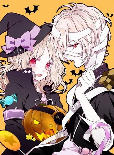 Diabolik amoureux fond d'écran with animé called [Halloween] Yui and Subaru