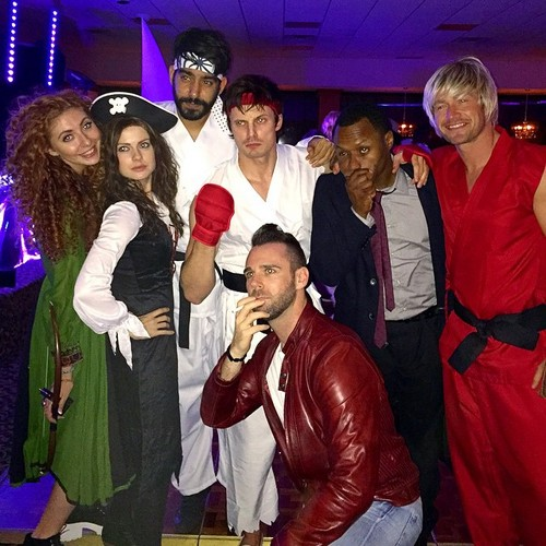 Bradley James wallpaper called  Halloween party 2014