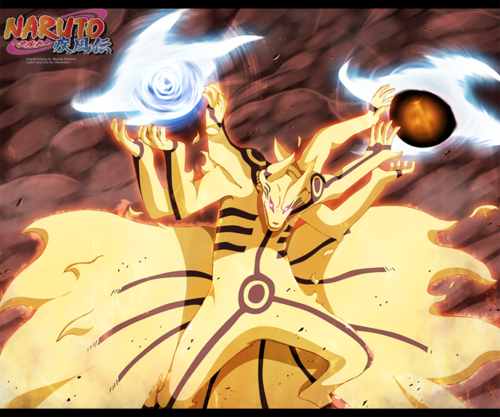 naruto shippuden wallpaper possibly with animê called *Naruto kurama-rasengan-bijuu-dama*