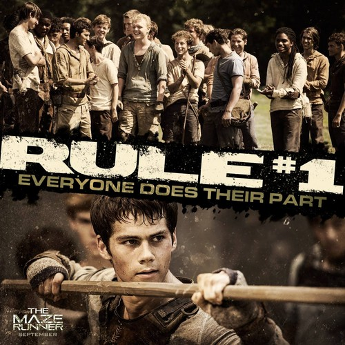 The Maze Runner 바탕화면 titled Rule 1