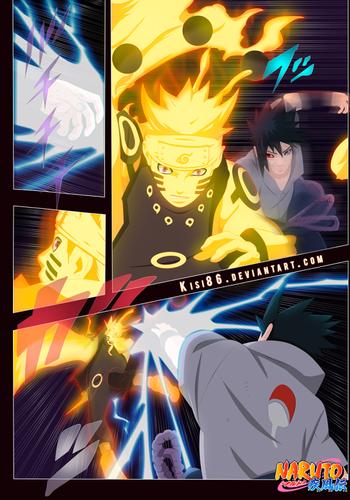 Naruto - Shippuden wallpaper containing Anime called *Sasuke v/s Naruto : The Final Battle*