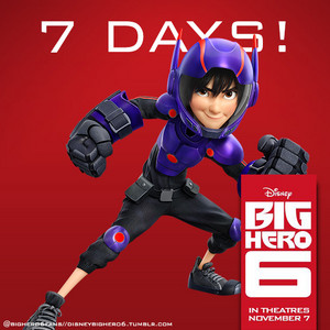 7 days until the release of Big Hero 6!