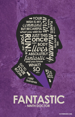 9th Doctor Quote Poster