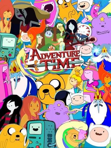 ফিন ও জ্যাকের সাথে অ্যাডভেঞ্চার টাইম দেওয়ালপত্র probably containing জীবন্ত titled Adventure Time