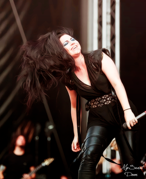 Amy Lee on the concert