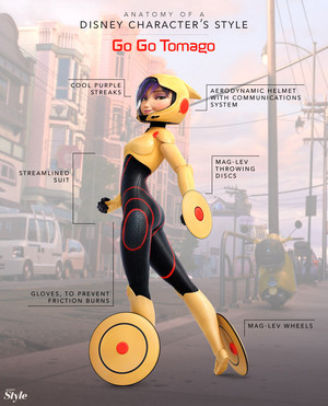 Anatomy of a 디즈니 Character's Style: GoGo Tomago