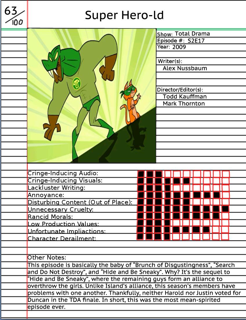 Animated Atrocity: Super Hero-ld
