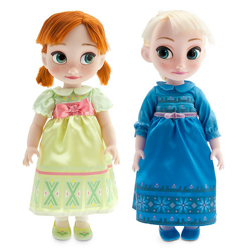Frozen karatasi la kupamba ukuta titled Anna and Elsa Doll Gift Set - Disney Animators' Collection
