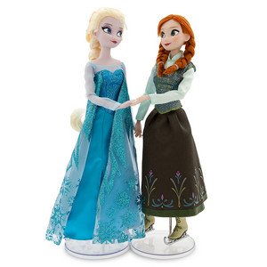 Anna and Elsa Ice Skating Doll Set