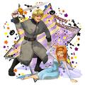 Anna and Kristoff Halloween - frozen fan art