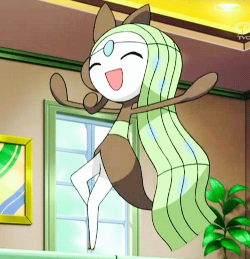 Aria Meloetta happy