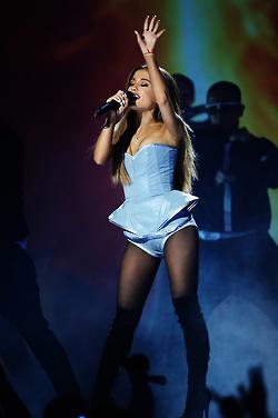 Ariana Grande performing at the 2014 mtv EMA's