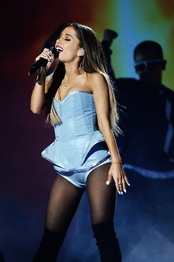 Ariana Grande performing at the 2014 mtv EMA's