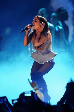 Ariana Grande performing at the 2014 एमटीवी EMA's