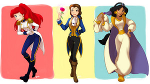 Ariel,Belle and jasmin